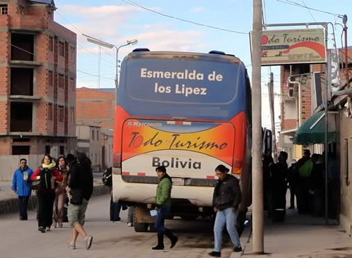 Todo Turismo bus in Uyuni