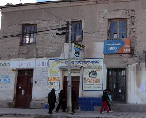 Trans Omar office in Uyuni