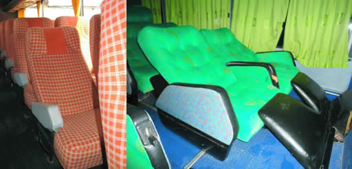 Panasur bus seats