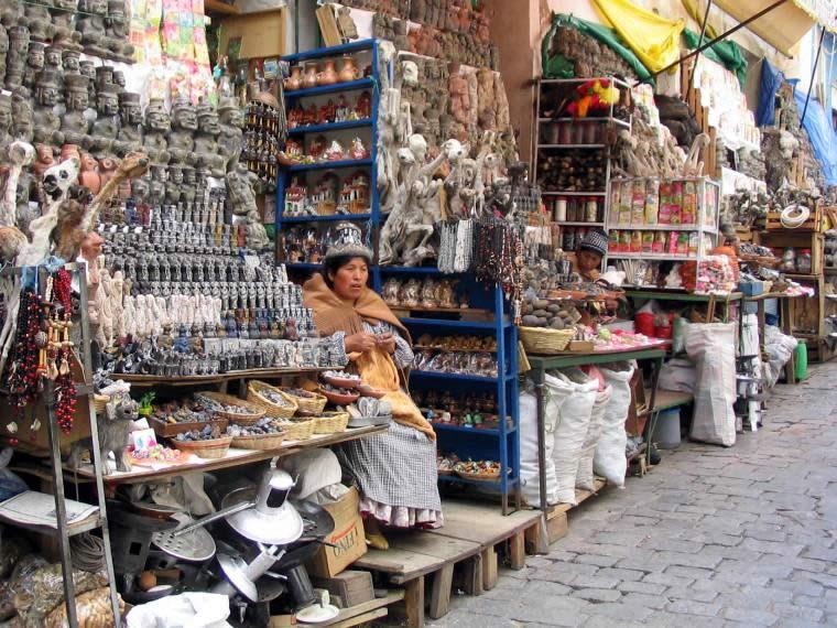 Mercado de brujas de La Paz