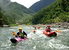 Rafting and Kayaking por el Rio Coroico, Yungas, Coroico
